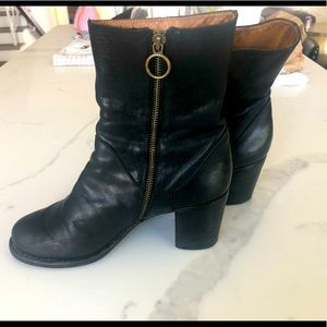 Fiorentini + Baker Leather  Heeled Ankle Boots
